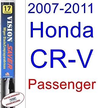 Amazon.com: 2007-2011 Honda CR-V Wiper Blade (Passenger) (Saver Automotive Products-Vision Saver) (2008,2009,2010): Automotive