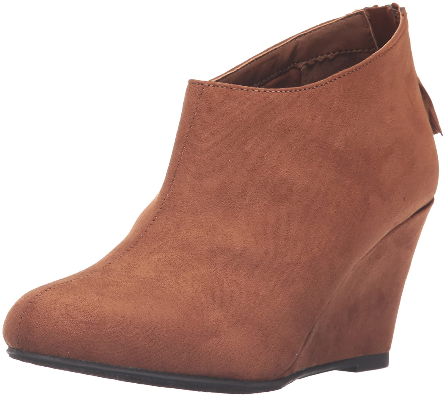 CL by Chinese Laundry Women's Via Wedge Bootie B01EZYVIN4 8 B(M) US|Whiskey Super Suede