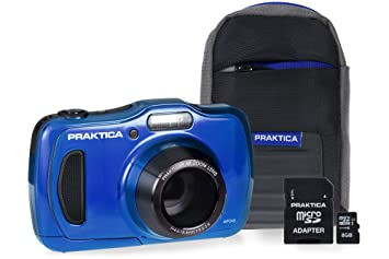Praktica luxmedia wp240 waterproof camera kit with 8 gb: amazon.co