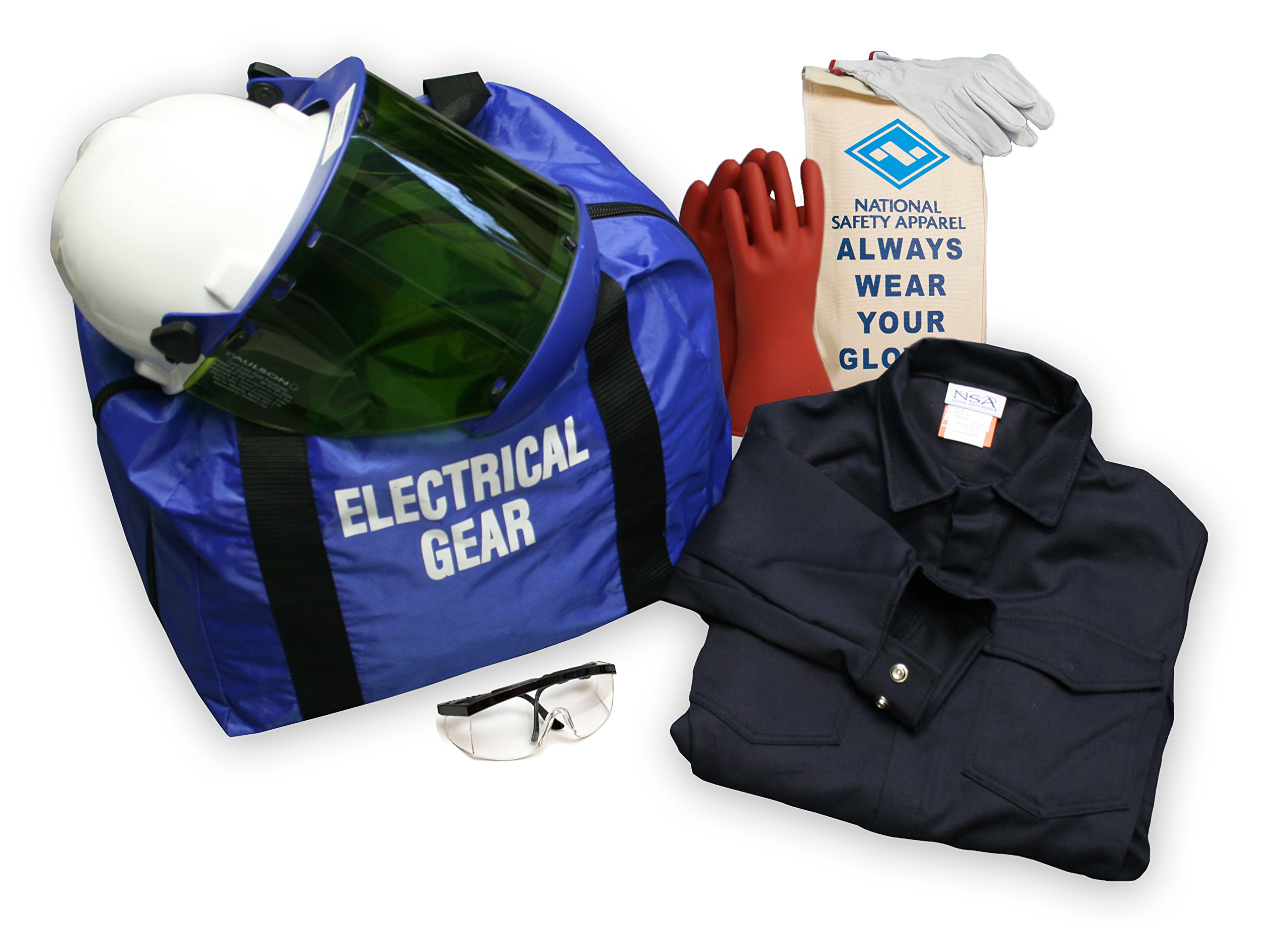 National Safety Apparel KIT2CV11LG09 ArcGuard UltraSoft Arc Flash Kit with Coverall, 12 Calorie, Large, Size 9, Navy