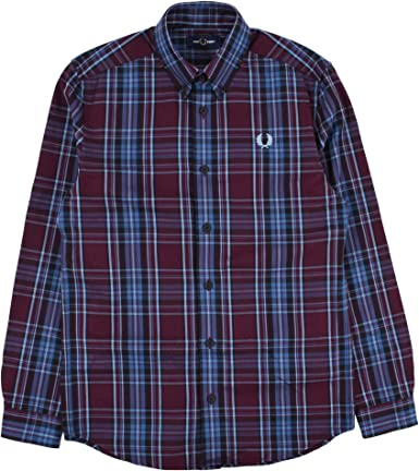 Fred Perry Winter Tartan Shirt Mahogany-L: Amazon.es: Ropa y ...