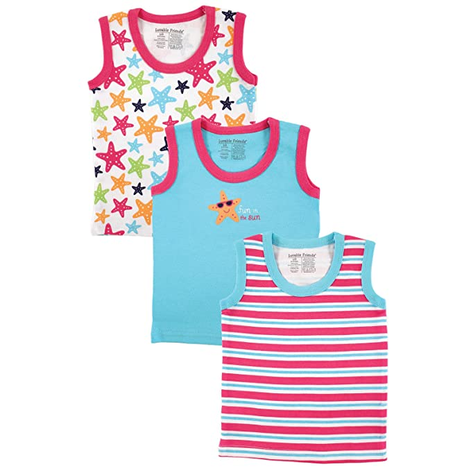 d5509f1f35eb Amazon.com  3-Pack Sleeveless Tee Tops  Infant And Toddler Tank Top ...