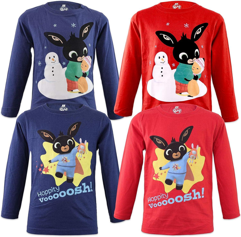 Characters Cartoons Bing 962-61X Childrens Long-Sleeved T-Shirt Full Print Cotton