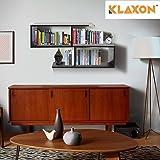 Klaxon Home Decor Wall Shelves (Matte Finish, Black)