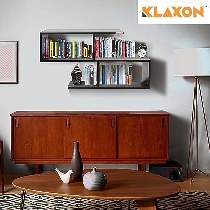 Klaxon Home Decor Wall Shelves Matte Finish Black Amazon In