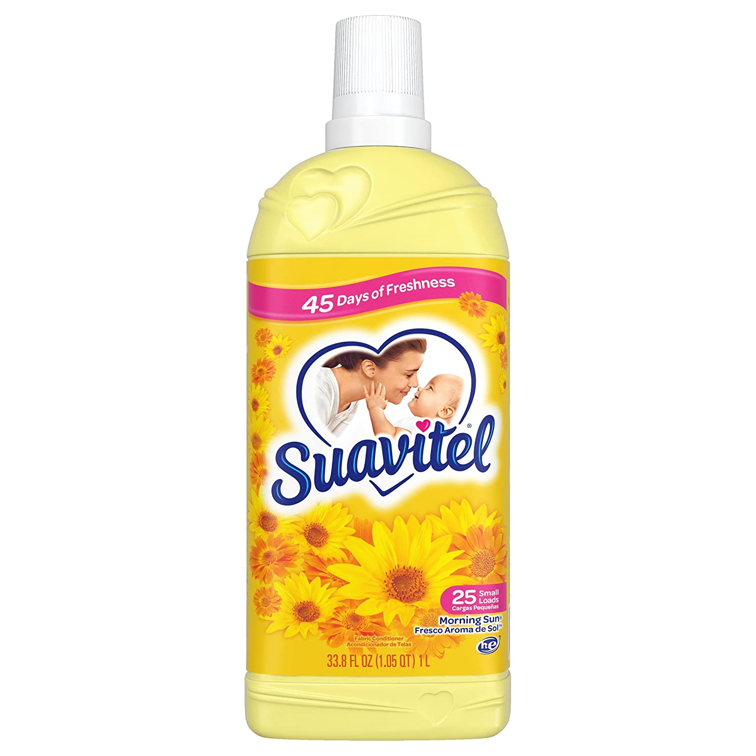 Suavitel Fabric Softener, Morning Sun, 33.8 Fluid Ounce
