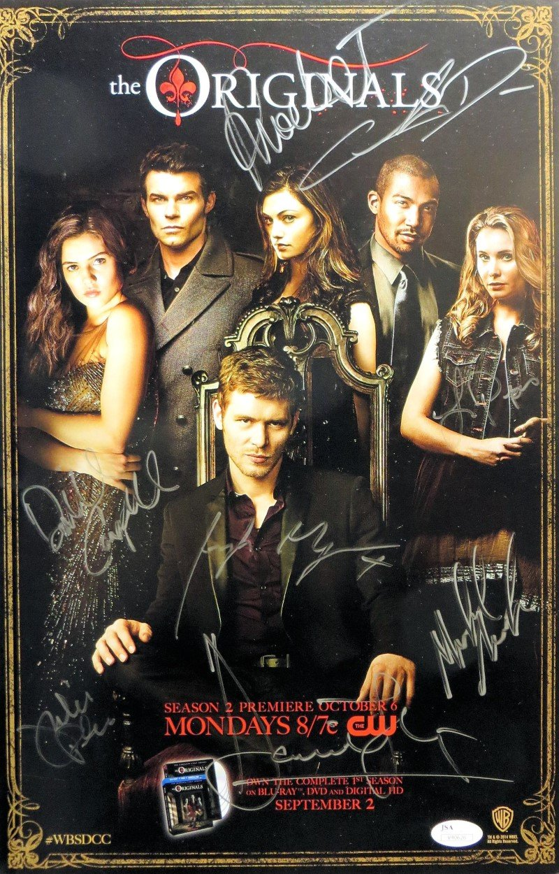 The Originals Cast Signed Autographed 11x17 Poster Gillies
