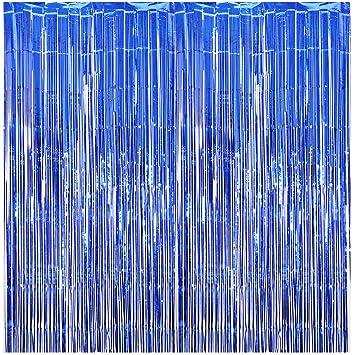 Amazon.com: Cortina de flecos de lámina AOFEN de 29.5 ft x ...