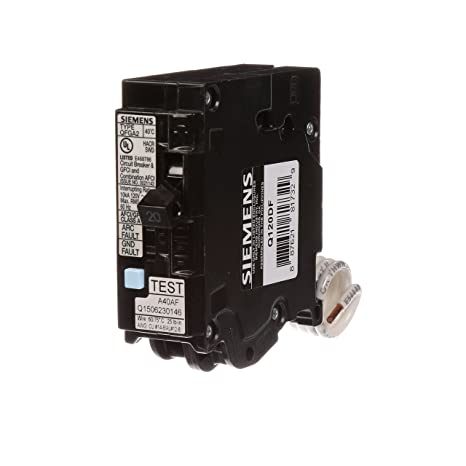 siemens q120df 20-amp afci/gfci dual function circuit breaker, plug on load  center style: amazon com: industrial & scientific