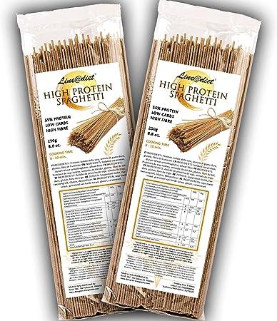 Spaghetti semiacabados 55% de proteína | Pasta que es amiga ...