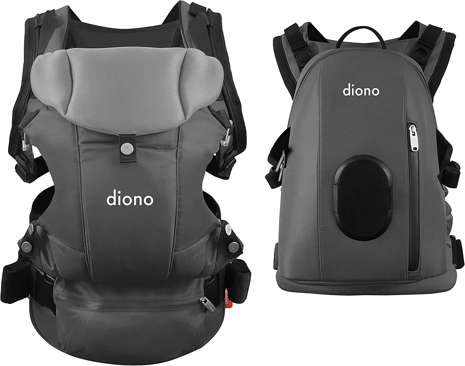 4-in-1 Baby Carrier System with Detachable Backpack Diono Carus Complete Black from 3.2-15 kg 2018 Model