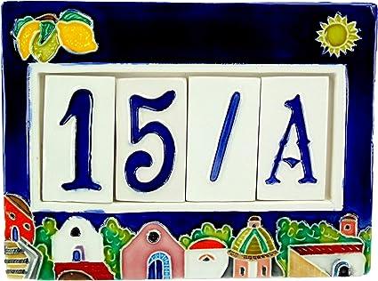 10x10cm 20x20cm alta definizio Numeri civici mattonella ceramica f.to 15x15 cm