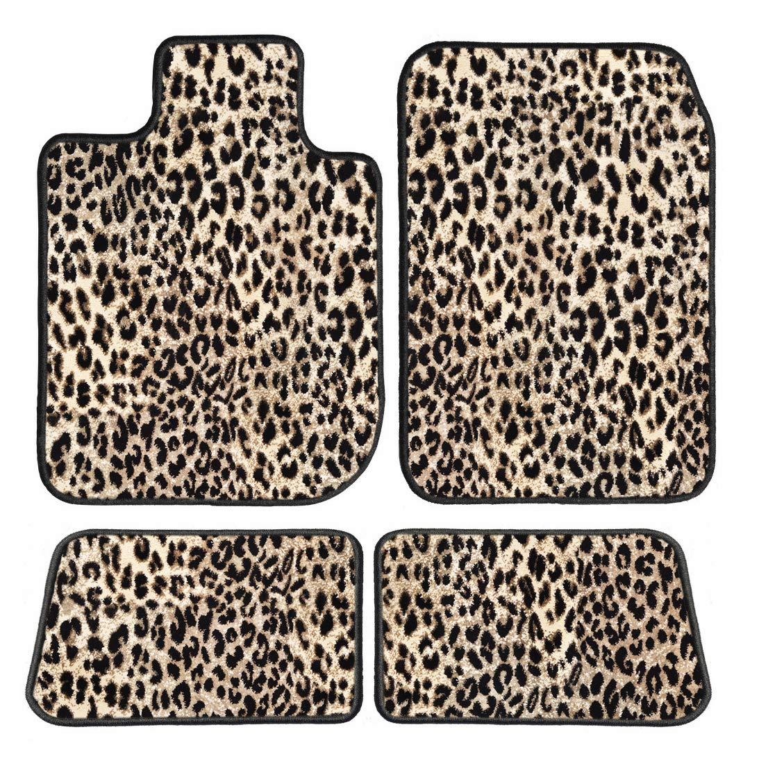 2011 Toyota Sequoia Leopard Driver Passenger /& Rear Floor GGBAILEY D4540B-S1A-LP Custom Fit Car Mats for 2008 2010 2009