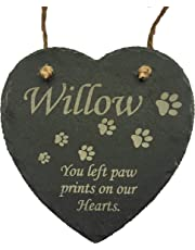 Signature CNC Creations Pet Memorial - Personalised Laser Engraved Cat Memorial Slate Heart Plaque ready for hanging. A lasting keepsake to remember your Best Friend