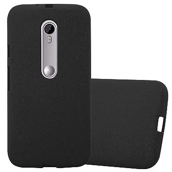 Cadorabo Funda para Motorola Moto G3 en Frost Negro: Amazon ...