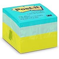 Bloco de Notas Adesivas, Post-it, 47.6x47.6mm, 400 Folhas, Colorido, Verde Neon/Azul/Céu Azul