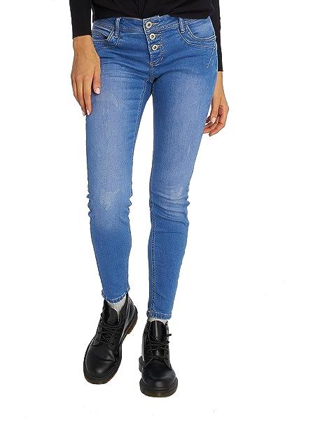 Sublevel Damen Skinny Jeans Denim in blau Sublevel