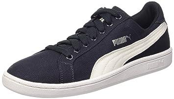 Classique Baskets Basses Chaussures Smash Canvas Puma Bleu
