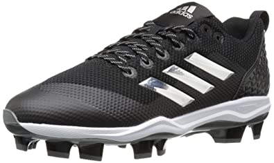 adidas Performance Men's PowerAlley 5 TPU Baseball Shoe, Core Black, Silver  Met, Ftwr