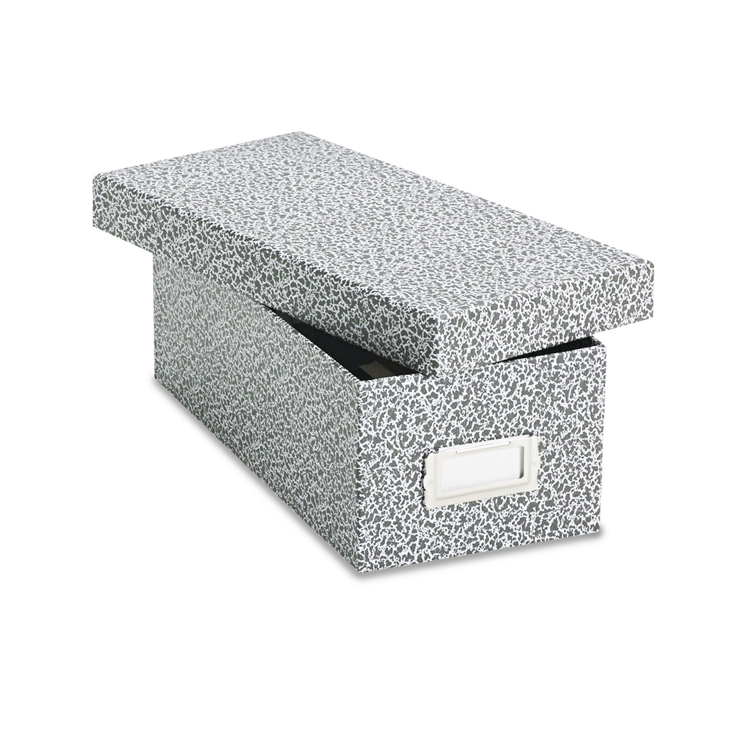 Oxford 40588 Reinforced Board Card File, Lift-Off Cover, Holds 1,200 3 x 5 Cards, Black/White by Oxford