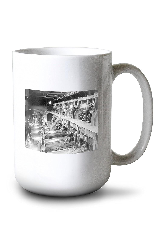 Inside the Deadwood Terraゴールドスタンプミル写真 15oz Mug LANT-3P-15OZ-WHT-5736 B077RW6BS6  15oz Mug