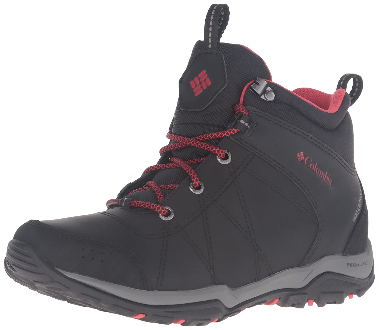 Columbia Women's Fire Venture Mid Waterproof Hiking Boot B0183LA12E 7.5 B(M) US|Black/Burnt Henna