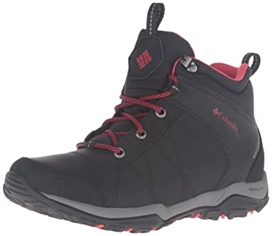 Columbia Womens Fire Venture Waterproof Mid Hiking Boots       Black Burnt Henna