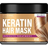 Keratin Hair Mask Natural Intensive Treatment - Made in USA - Effective Mask with Coconut Oil, Retinol & Aloe Vera…