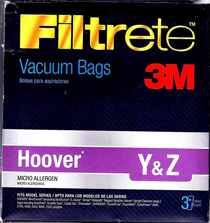 Amazon.com - 3M Hoover Y&Z Micro Allergen Bag - Household Vacuum Bags Upright
