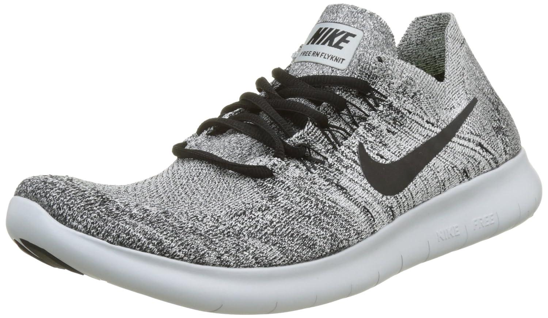 Ajuste clásico Nike Hombre Free RN Flyknit 2017 Zapatos para correr Blanco/Negro-stealth-pure Platinum 759GF