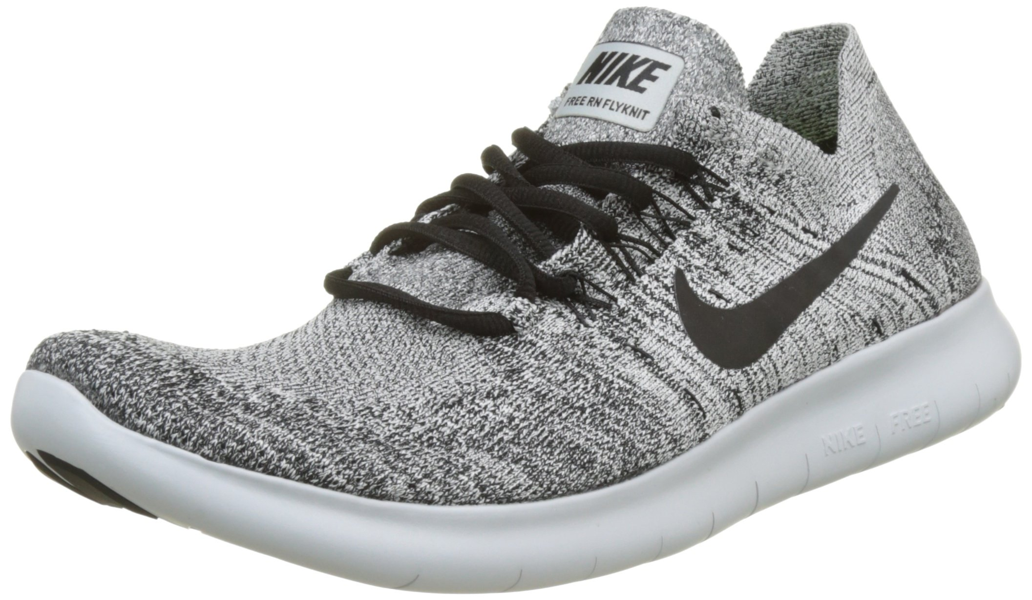725428c9195b2 Galleon - Nike Mens Free RN Flyknit 2017 Running Shoes White Black-Stealth-Pure  Platinum 880843-101 Size 9.5