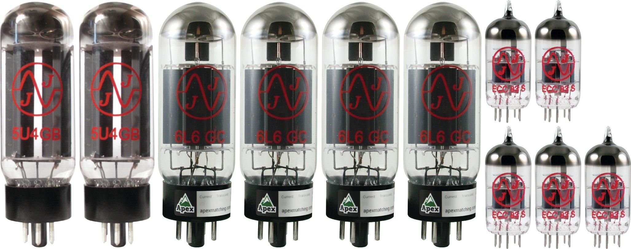 Mesa Boogie Dual Rectifier Tube Set, JJ Tubes (x4 6L6GC, x5 12AX7, x2 5U4GB)