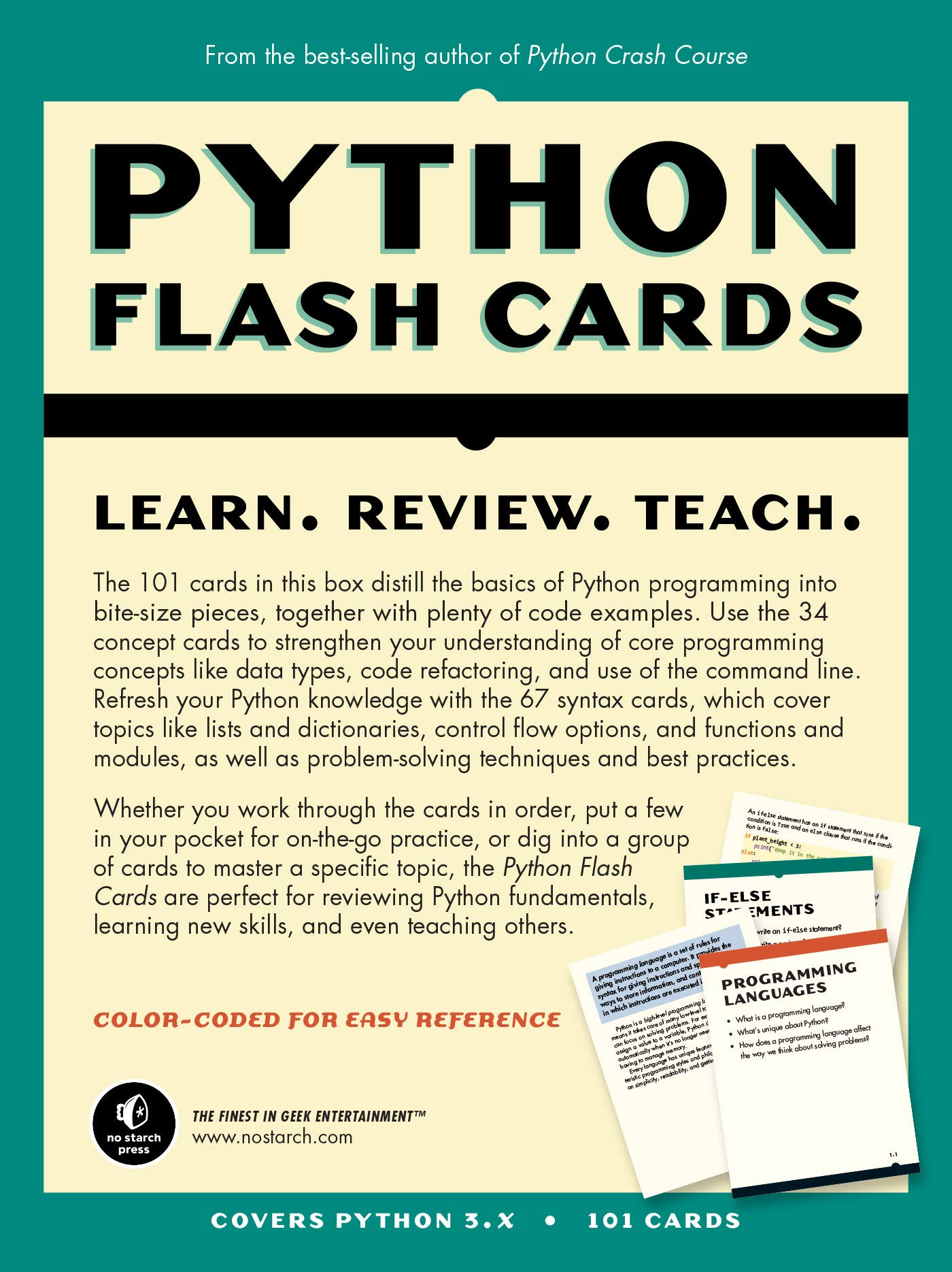 Python Flash Cards: Syntax, Concepts, and Examples: Eric