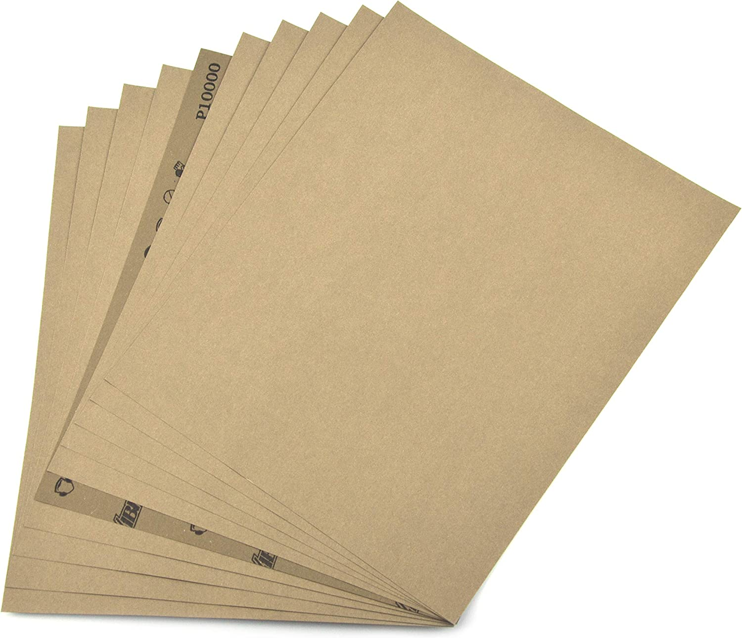 """5 Sheets Sandpaper 9/"""" x 11/"""" 3000 Grit Wet/&Dry Sand Paper Abrasive Papers New"""