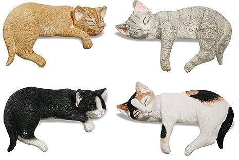 Katerina Prestige – Figura – Caja de 4 Gatos acurrucados Borde, na0371