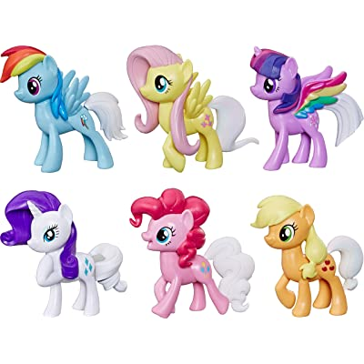 My Little Pony Toy Rainbow Tail Surprise -- Collection Pack of 6 3-Inch Pony Figures with Color-Change Features, Kids Ages 3 Years Old and Up: Toys & Games