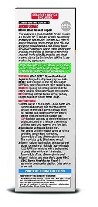 Buy bars leak hg 1 head seal blown head gasket repair online at buy bars leak hg 1 head seal blown head gasket repair online at low prices in india amazon fandeluxe Choice Image
