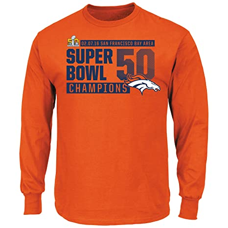 1bf68337d Denver Broncos Super Bowl 50 Champs Winners Take Orange Long Sleeve T-shirt  Small