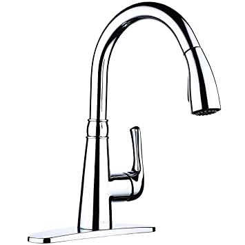 single handle pull down sprayer kitchen sink faucet chrome kitchen faucets with deck