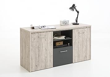 Amazon De Sideboard Schreibtisch Computer Kommode Liam In Sandeiche