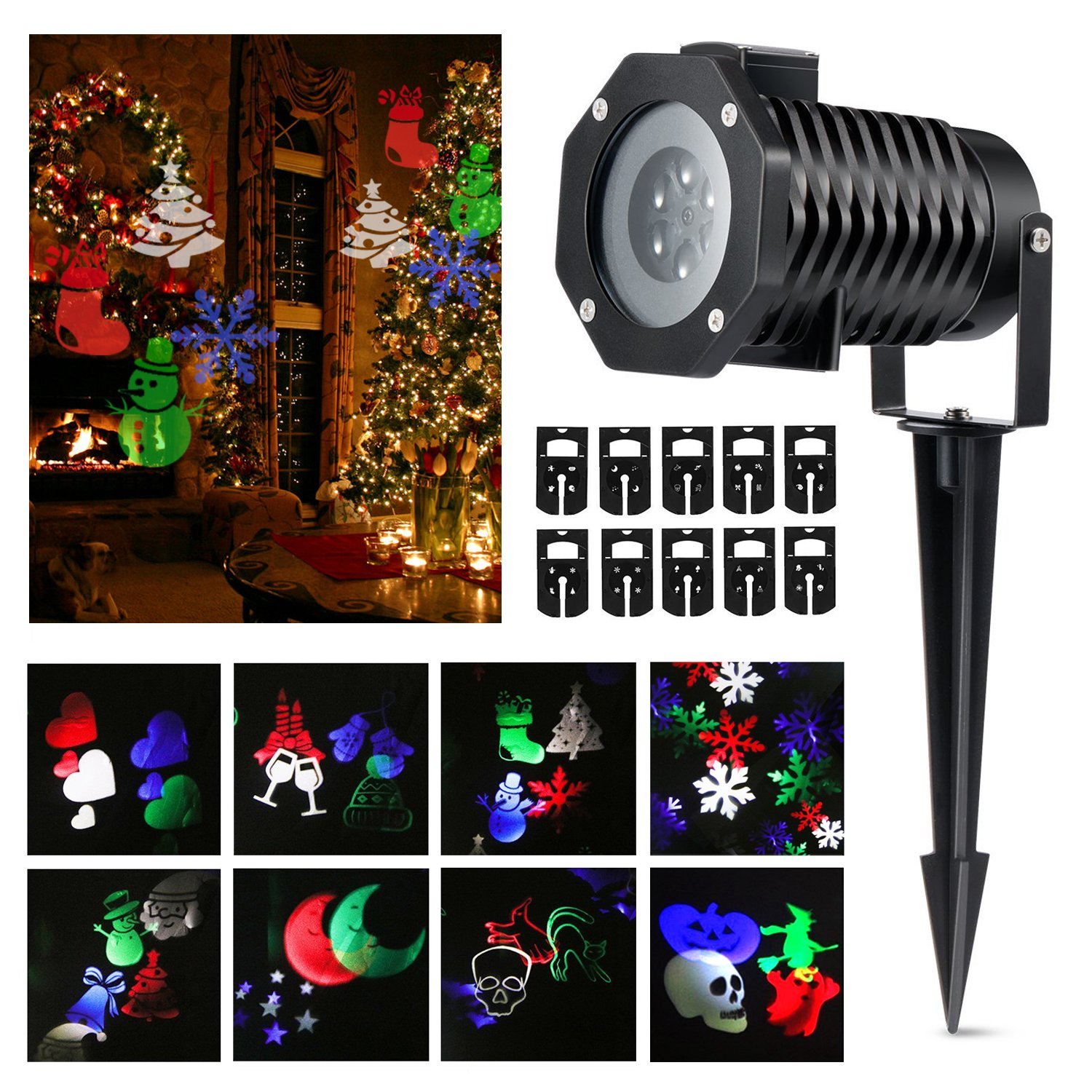 Amazon Halloween Projector lights Magicfly Rotating