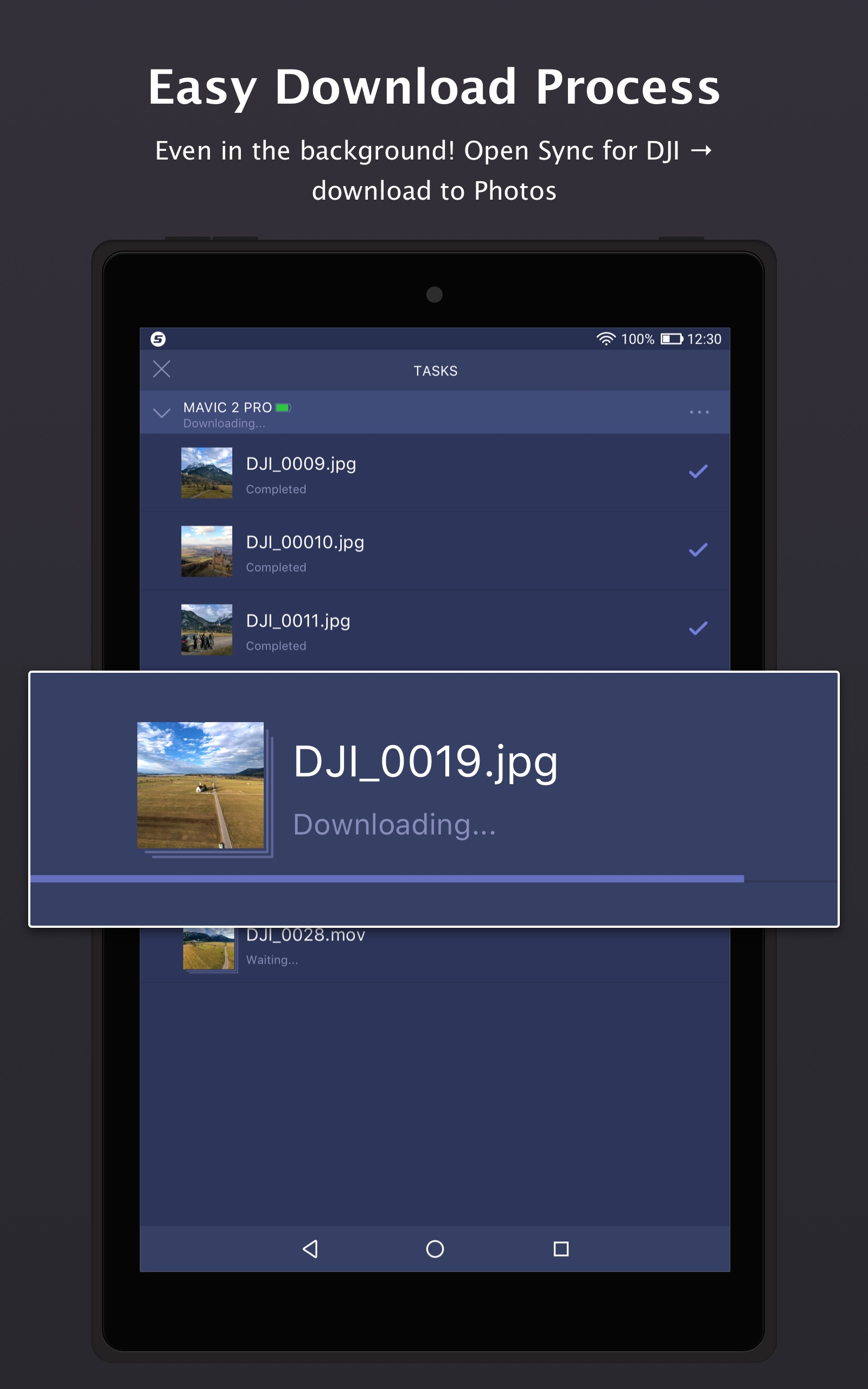 Amazon com: Sync for DJI: Go Mobile First (4K,H 265,Panorama