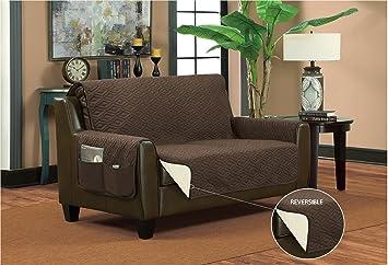 Amazon Com Bella Kline Reversible Sofa Furniture Protector With 2