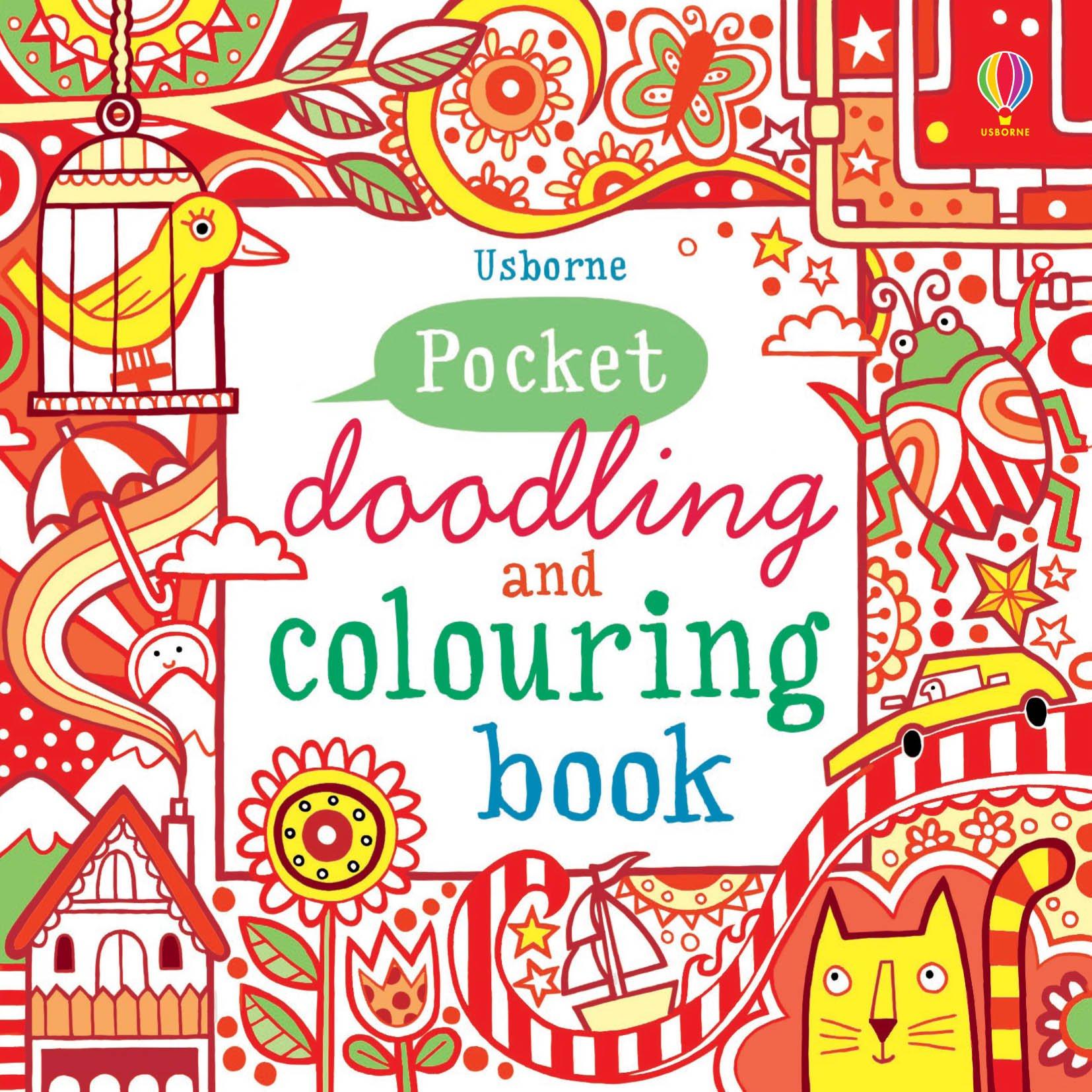 little doodling and colouring book red book usborne art ideas non figg 9781409524137 amazoncom books - Usborne Coloring Books