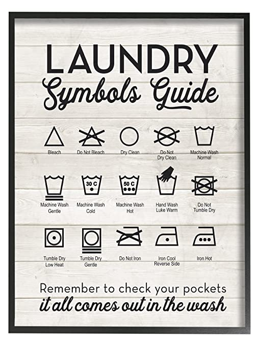 Amazon The Stupell Home Decor Collection Laundry Symbols Guide