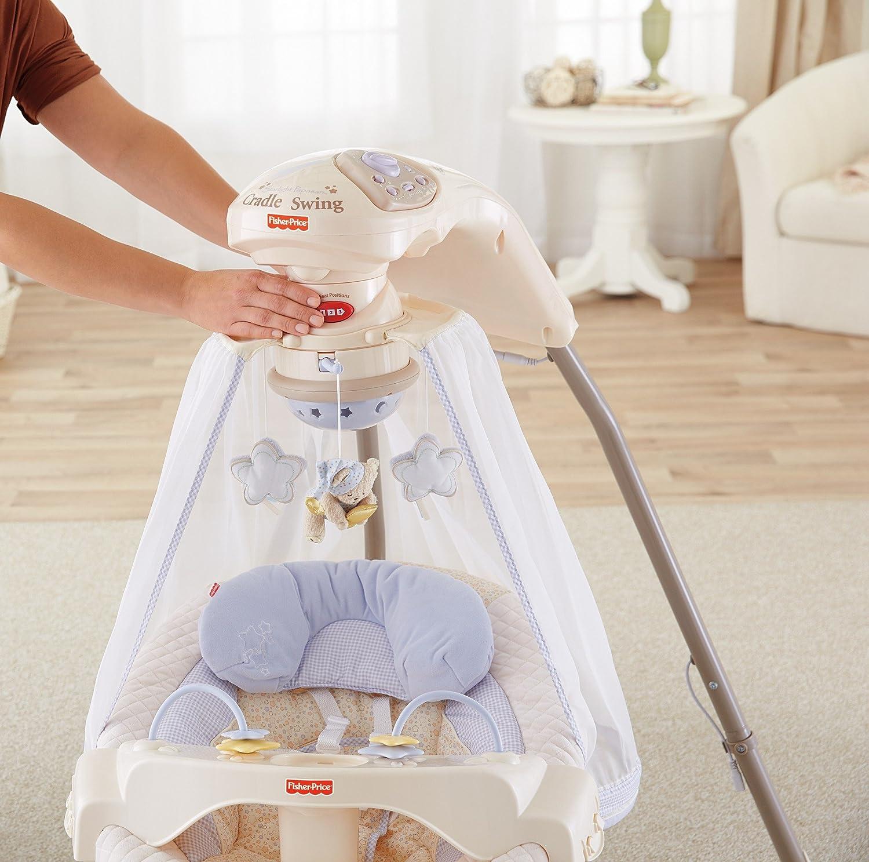 Amazon.com : Fisher-Price Papasan Cradle Swing, Starlight : Stationary Baby  Swings : Baby