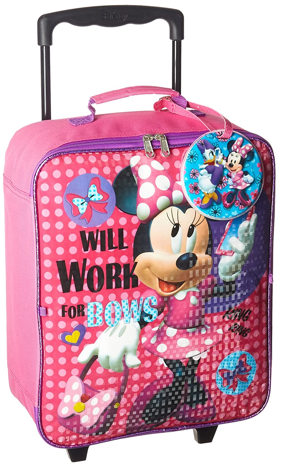 Disney Minnie 3 Pc Luggage Set Kid's Luggage, Pink