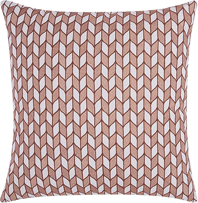 The Pillow Collection P18-BAR-M9557-WISTERIA-R66P34 Bloem Chevron Pillow Wisteria