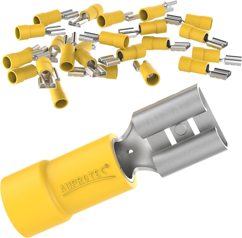 Connecteur de c/âble FDD en laiton /étam/é AUPROTEC Douilles /à bride 0.5-6.0 mm/² Connecteur femelle en PVC partiellement isol/é