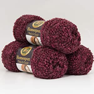 HOMESPUN Thick /& Quick Lion Brand Yarn Value Pack of 2 LAVENDER
